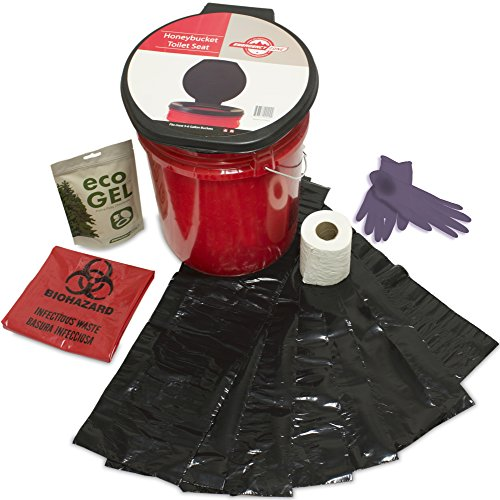 Emergency Zone Honey Bucket Style Toilet Complete Set with Liner and  Chemicals. 1 Pack 13d090c5b4ec8