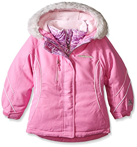 ZeroXposur Little Girls' Alex Systems Coat, Azalea, Small-4 - 5 X Azalea
