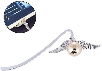 ynuth segnalibro in metallo di Palo a righe e con ciondolo a forma di motivo di Animal del stile retr/ò Gufo