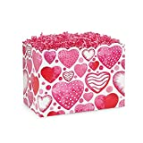 Small Watercolor Hearts Basket Boxes - 6.75 x 4 x 5in. - 60 Pack