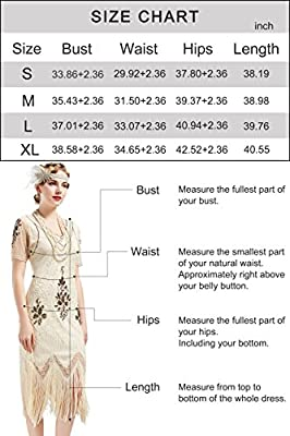BABEYOND 1920s Art Deco Fringed Sequin Dress Roaring 20s Flapper Fancy Dress Gatsby Costume Dress Vintage Beaded Evening Dress