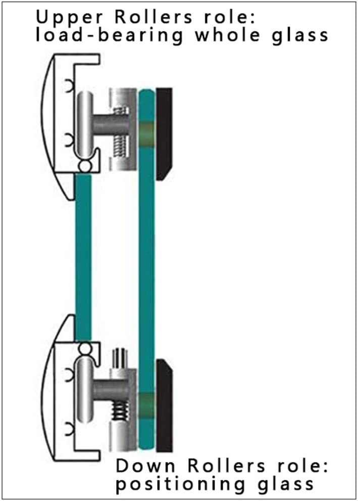 8 PCS Rouleaux de porte de douche Coureurs de porte de douche//roues//poulies//Guides Accueil Salle de bains Pi/èces de rechange bricolage Ultra-silencieux Forte charge Double roue