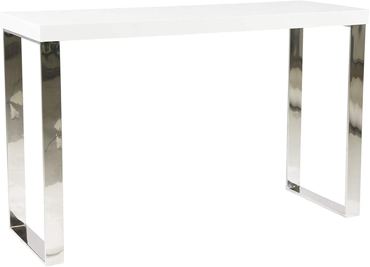 DUGARHOME - Recibidores Modernos - Consola Blanca/Cromo - iBERGADA ...