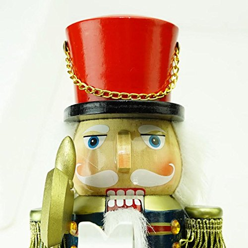 northlight 12 decorative wooden green red and blue christmas nutcracker soldier on rocking horse - Horse Christmas Decorations