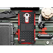 LG G3 Case, Cocomii Grenade Armor NEW [Heavy Duty] Premium Tactical Grip Kickstand Shockproof Hard Bumper Shell [Military Defender] Full Body Dual Layer Rugged Cover (Red)