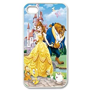 Custom Beauty and The Beast Productive Back Phone Case For Iphone 4 4S case cover -Style-19