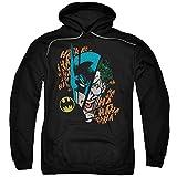 DC Comics Batman & Joker Broken Visage Adult Pull-Over Hoodie