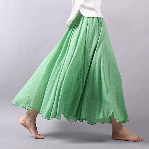 Ourlove Fashion - Falda - trapecio - para mujer Verde