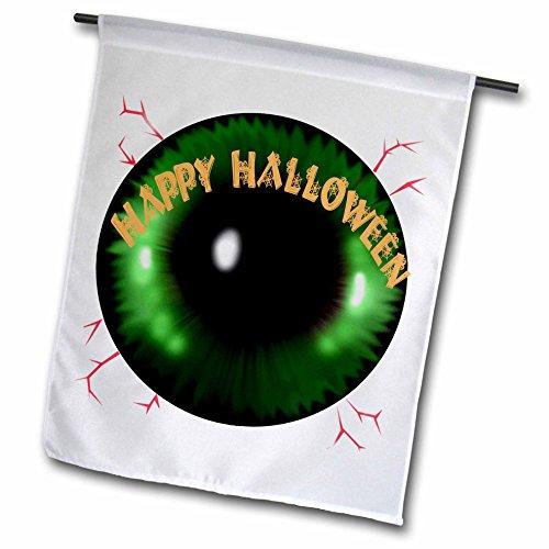 Dawn Gagnon Photography Halloween Designs - Scary Halloween Eyeball Greeting - 12 x 18 inch Garden Flag (fl_232007_1) (Halloween Eyeball Photos)