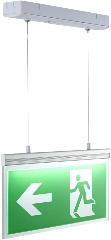 Aluminium Construction Warehouse Downlight with 3 Hours Emergency Backup and Rechargeable Battery IP20 Rated Office Biard 3W LED Recessed Emergency Spotlight Idea for Schools