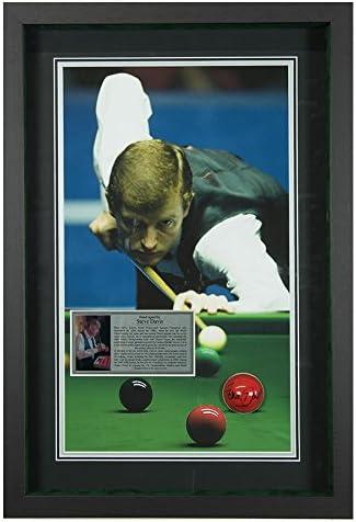 Firmado Steve Davis Snooker bola – Campeones del mundo enmarcado ...