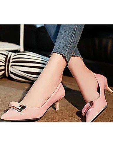 pink Punta uk4 ZQ cn39 black Negro Zapatos Tac¨®n y Cerrada eu39 cn36 uk6 us8 Zuecos Casual uk6 cn39 eu36 mujer pantuflas us6 Vestido Rojo pink de PU Kitten us8 Rosa eu39 C1Xwxnr1q