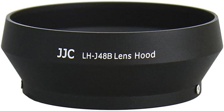 Haoge LH-M48B Metal Lens Hood Shade for Olympus M.ZUIKO Digital 17mm F1.8 17 1.8 Lens Replaces LH-48B Black