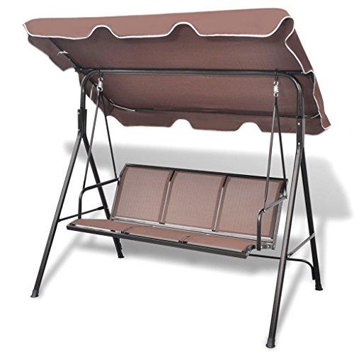 Chloe Rossetti Coffee Garden Swing Chair Overall size: 5' 10