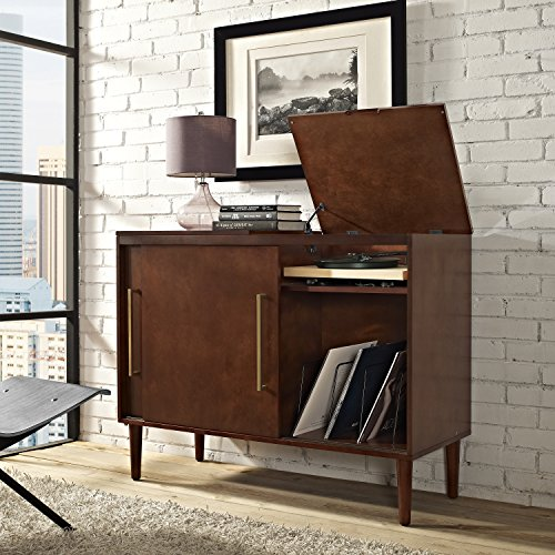 Crosley Furniture Pemberly Row Media Console in Mahogany