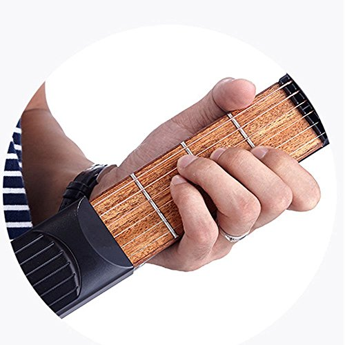 Portable Wooden Pocket Guitar Finger Exercise Practice Tool Gadget 6 String 6 Fret Chord Trainer (Best Guitar Practice Tools)