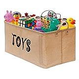 Gimars Jute Storage Basket Bin Chest Organizer - Perfect for Organizing Toy Storage, Baby Toys, Kids Toys, Dog Toys, Baby Clothing, Children Books, Gift Baskets (22' Upgrade Toys)