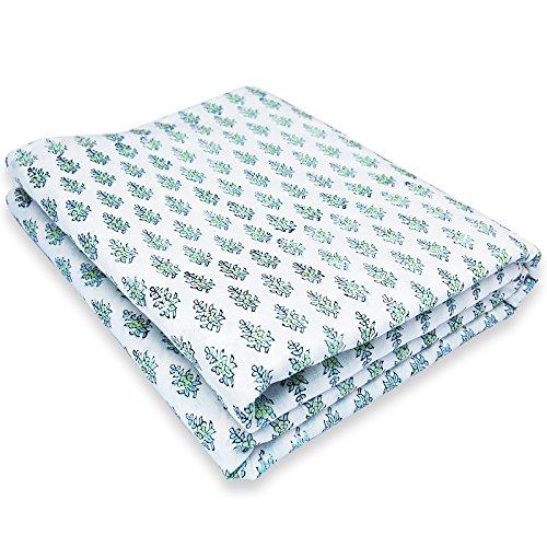 Cour Coton Matériel Robe De Tissu De Coton Tissu Imprimé Bloc Main Tissu Imprimé Voile Bloc À La Main