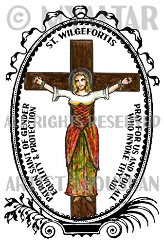 Postcard Fabulous Invitations - St Wilgefortis Patron of Gender Equality & Protection 4