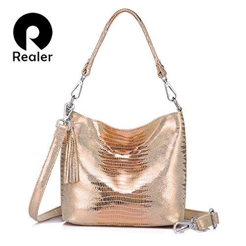 Shoulder Leather Hobos Bags Sliver Messenger Bags Women Handbags Crossbody Easygill Light qAxw6FIRW