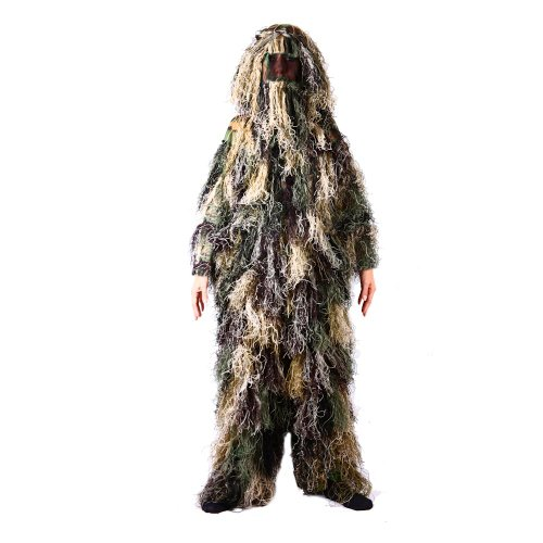 Kids Ghillie Suit, Woodland Camouflage, (L) Fits Ages 9-11 Years