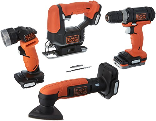 (BLACK+DECKER BDCK502C1 GoPak 4-Tool Combo Kit)