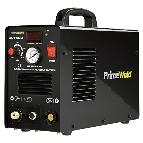 "PRIMEWELD Premium & Rugged 50A Air Inverter Plasma Cutter Automatic Dual Voltage 110/220VAC 1/2"" Clean Cut Portable from PRIMEWELD"