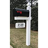 4Ever Products The Loudon Vinyl/PVC Mailbox Post - White (Includes Mailbox) - Customize
