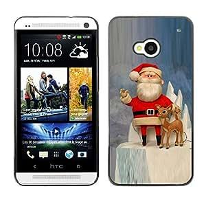 YOYO Slim PC / Aluminium Case Cover Armor Shell Portection //Christmas Holiday Santa Claus Holiday 1047 //HTC One M7