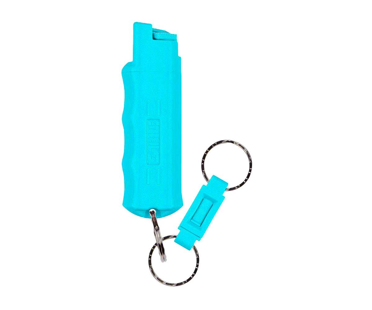 KUROS Pepper Spray-Police Strength-Aqua Key Case with Quick Release Key Ring, 25 Bursts & 10-Foot (3 m) Range by Kuros!