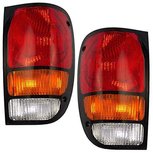 Driver and Passenger Taillights Tail Lamps Replacement for Mazda Pickup Truck ZZM051160P1 ZZM051150P1