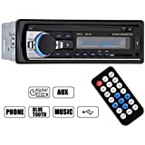 GHB Auto Radio Coche Bluetooth Estéreo AM FM In-Dash USB SD Reproductor Audio MP3 WMA APE FLAC WAV Pantalla LCD