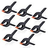 UTEBIT Backdrop Clips 8-Pack 6'' Muslin Backdrop Background Clamps Heavy Duty for Photography Paper/Photo Backdrops/Reflectors/Photography Accessories