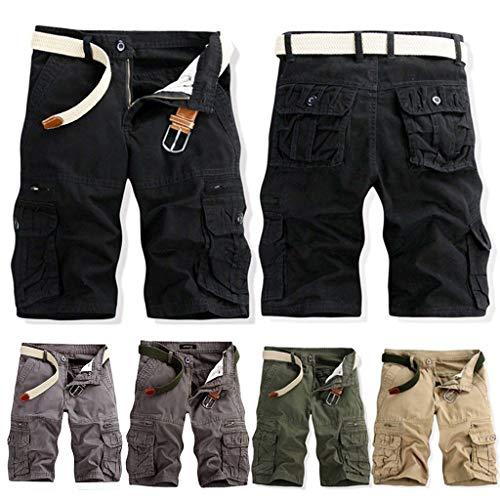Herren Carg Shorts aus 95% Baumwolle mit 6 Taschen| Kurze Hose Sommer Herrenshorts Short Men Pants Cargohose kurz Sommerhose Männer in 5 Farben & 8 Größen