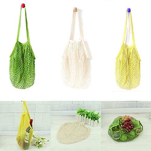 LtrottedJ Mesh Net Turtle Bag String Shopping Bag Reusable F