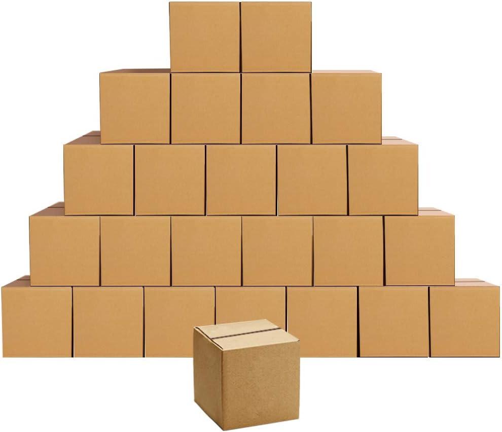 PETAFLOP Cajas de envío de cartón corrugado de 15.3x15.3x15.3 cm, 25 cajas de embalaje pequeñas, 6x6x6 Pulgadas