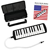 Melodica Complete Beginners Set For Kids With A Melodica Song Book. Comes With The Keyboard, Practice Book, Padded Case, Carrying Strap, Blow Tube And Mouthpiece