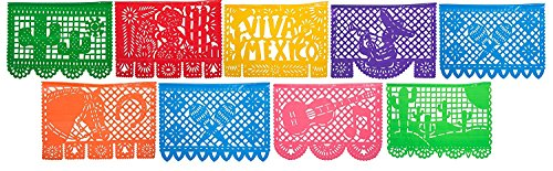 PLASTIC Papel Picado Mexico Querido - Designs as Pictured - By Paper Full of Wishes