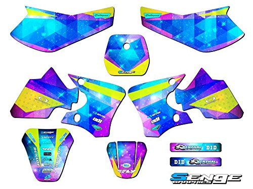 Compatible with Yamaha 2000-2008 TTR 90, Space Kadet Complete Graphics Kit
