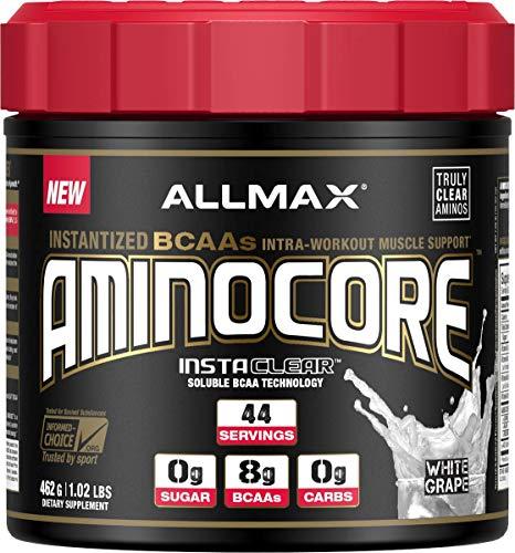 ALLMAX Nutrition Aminocore BCAAs, White Grape, 462 g For Sale