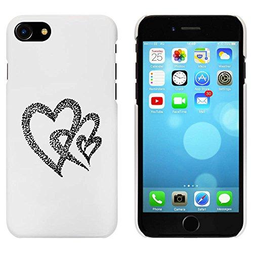 Blanc 'Trois Coeurs' étui / housse pour iPhone 7 (MC00067110)