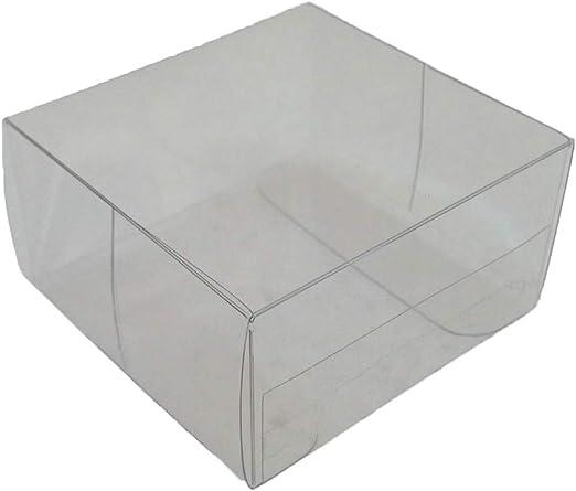 50 Piezas Caja PVC Transparente 6x6x3 cm Bolsas para Peladillas Matrimonio Ceremonia: Amazon.es: Hogar
