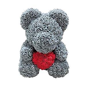 Artificial Flowers Dolls,38cm Rose Love Heart Cartoon Bear Artificial Flower Doll 92