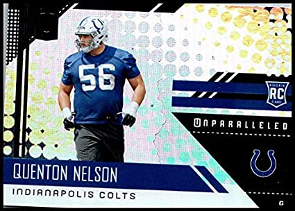 timeless design 40fe6 41525 Amazon.com: 2018#300 Quenton Nelson NM-MT RC Colts ...