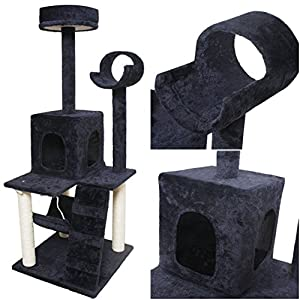 "Splendid Popular Size 52"" Cat Tree Pet House Kittens Furniture Fun Toy Play Color Navy"