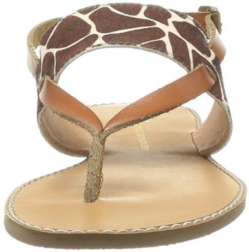 SODASIPHON Echo Ss14-s-28b - Sandalias de cuero para mujer, color Marrón (Marron (Giraffe))