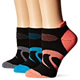 ASICS Women's Intensity Single Tab Socks, Black Assorted, Large