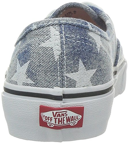 Blue Unisex Adults Sneaker Top Vans Authentic Low Washed nBxwOz
