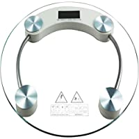 KEIR Electronic 8 Mm Round Thick Tempered Glass Electronic Digital Personal Bathroom Health Body Weight Weighing Scale