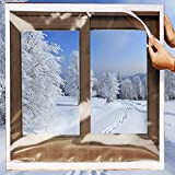 Best Window Insulation Kits - SES.CO Reusable Transparent Indoor Window Insulation Kit,Heavy Duty Review